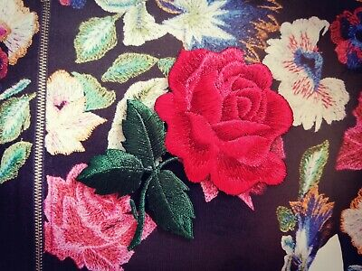 Iron-on Embroidered Rose Patch