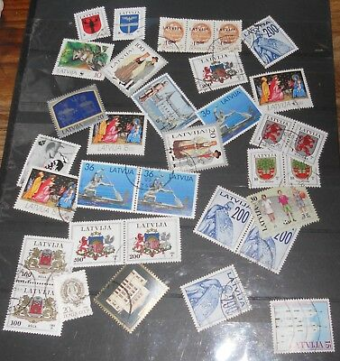 Latvija  Mixed Lot Of Stamps
