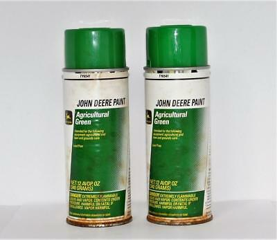 2 x Vtg John Deere GREEN Agricultural/Lawn/Garden Spray Paint Paper Label 12oz