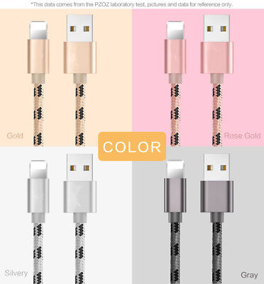 Genuine Apple Braided Lightning Sync Data USB Charging Cable F iPhone X 6s 7 8 5