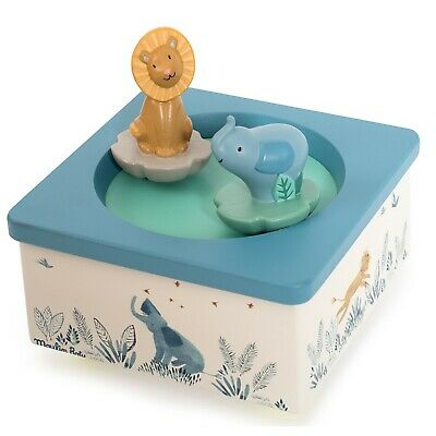 Baby Music Boxes, Moulin Roty Baby Music Box - Elephant & Hippo, Jungle