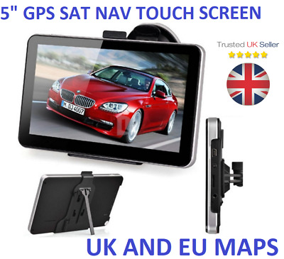 5 Inch Car Truck GPS Navigation Lorry Coach HGV Navigator SAT NAV 8GB ROM GPS UK