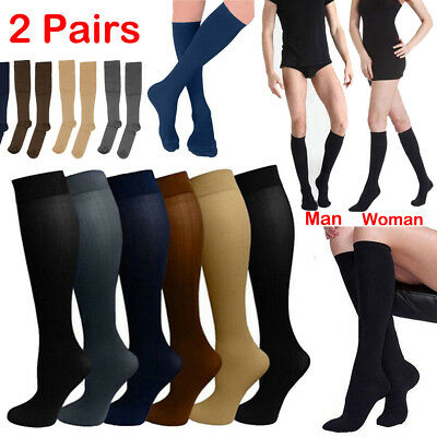 2 Pairs Compression Socks Stockings Advanced Support Men's Women's (S-XL) Socks