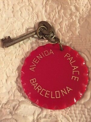 Vintage Avenida Palace Barcelona Hotel Fob And Skeleton Key Room 505