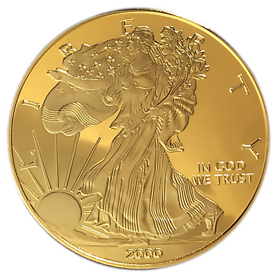 Beautiful 1 Oz 24Kt Gold Plated Liberty Token! Great Gift! Hot Item!