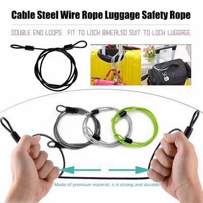 Cable Steel Wire Rope 100cm For Outdoor Sports Bike Lock Cycling Rope EC