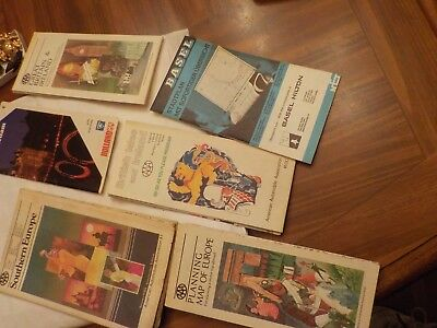 Lot Of 6 Assorted Foreign Maps From Aaa