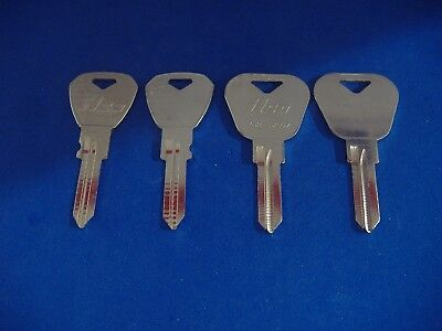 Lot Of Four Piece Classic Yugo Key Blanks Locksmith Vintage Auto