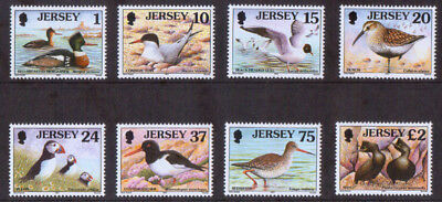 1997 Jersey u/m mnh Birds Seabirds and Waders Definitive stamps x 8  1p-£2