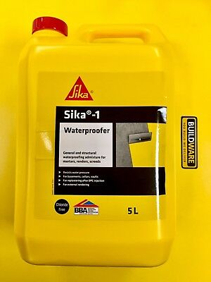 SIKA -1 Waterproofer General & Structural Waterproofing Admixture 5 Ltr