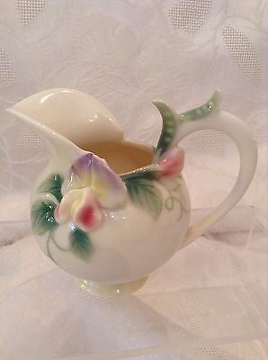 Franz Porcelain Beautiful Sweet Pea Creamer Jug Perfect Condtion Only Displayed
