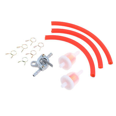 6mm Gas Fuel Filter Petrol Fuel Line Hose Pipe + Tank Tap Switch Red