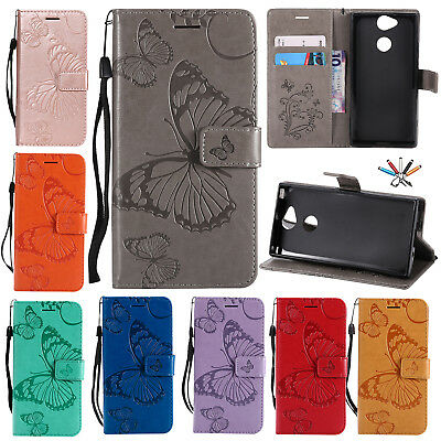 For Sony Xperia XA1/L1/Z5 Magnetic Flip Leather Case Wallet Card Slot Cover Skin