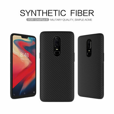 NILLKIN Unique Full Cover Ultra Synthetic Slim Carbon Fiber Case For OnePlus 6