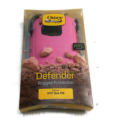 New OtterBox Defender Case & Holster Belt Clip For HTC One M9 - Pink/Black