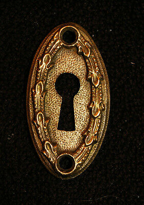 "VICTORIAN Heavy CAST BRASS ""PENN"" Keyhole Cover - ESCUTCHEON. Drawer, Door."