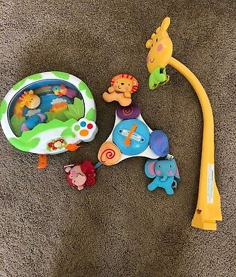 Fisher Price Baby crib animal mobile.  BONUS: Babies R US mobile