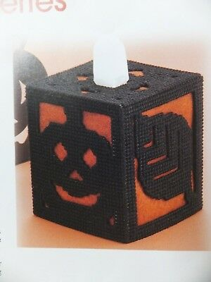 Assorted Plastic Canvas Halloween / Fall Tissue Topper Patterns Spooky and Fun