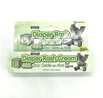 Natureplex Diaper Rash Cream For Babies 40% Zinc Oxide W Aloe Like Desitin 1.5Oz