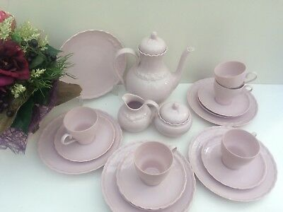 """Shabby Chic...hutschenreuther """" Porcelaine Rose"""" Desiree Rosa  Kaffeeservice"""