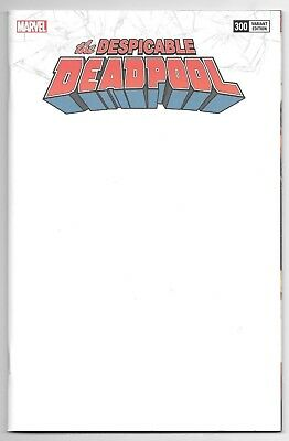 Marvel Comics DESPICABLE DEADPOOL #300 first printing blank cover