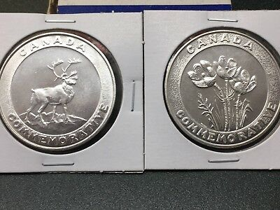 Northwest Territories Canada Centenary - 1870-1970 Medallion & MANITOBA COMMEM