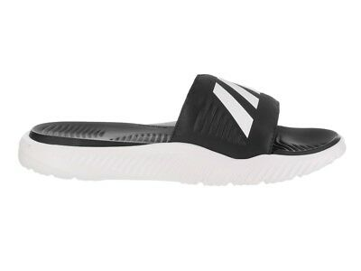 179dfe1dff4e5 adidas Alphabounce Slide Black White Men Sandal Slides Slippers BA8775