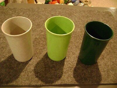 Melmac Color Flyte Branchell drinking cup lot - Green -Grey - Set of  excellent