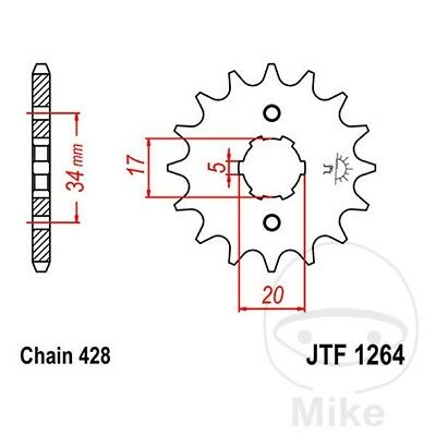 JT Front Sprocket 14T 428 Pitch JTF1264.14 Honda CBR 125 RS Repsol 2015-2017