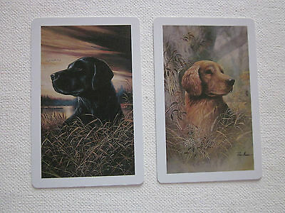 TWO SWAP CARDS - DOGS - ART - STUNNING - Unused Condition