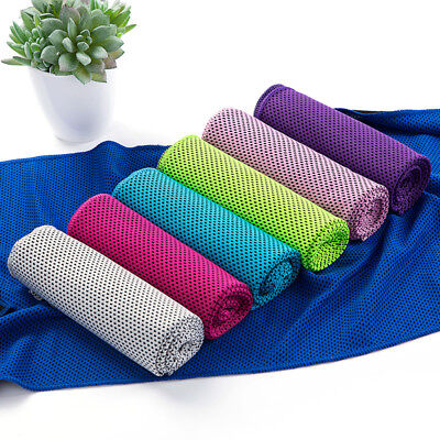 1PCS Sports Instant Cooling Towel Ice Cold Golf Cycling Running Jogging Gym