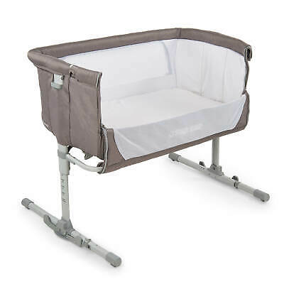 Star Kidz Amore Deluxe Baby Bedside Co Sleeping Bassinet Cot - Silver Cloud