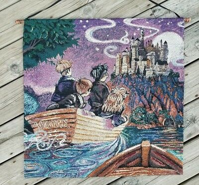 Harry Potter *JOURNEY TO HOGWARTS* Warner Bros 2002 ART TAPESTRY/Wall Hanging