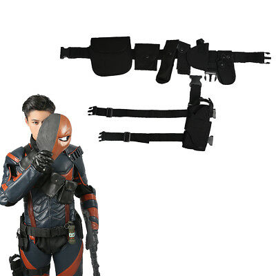 Batman Deathstroke Cosplay Belt Holster Costume Props Arkham Knight Adult Xcoser