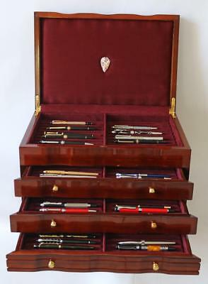 Fountain Pen Storage Display Chest, #628, Hand-Crafted, Solid Mahogany, New