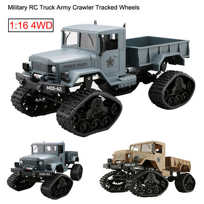2.4G RC Crawler 1:16 4WD Military Truck Army Off-Road Car RTR Tracked Wheels Toy