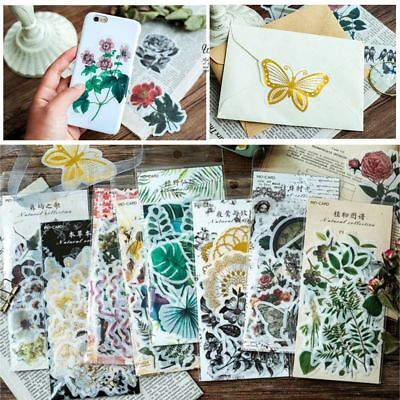 60pcs/pack Stationary Plants Stickers Paper Sticker Phone Decor Diary Label