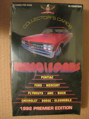 Muscle Cars Trading Cards 1992(Premier Edition) Full 100 Card Set Collect-A-Card