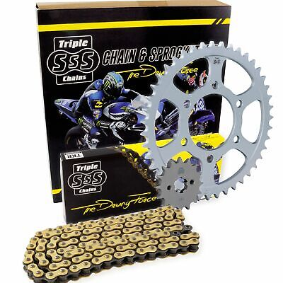 SSS Gold O-Ring Chain & Sprocket Kit For Yamaha 1998 FZS600 Fazer JTKYFZS6B