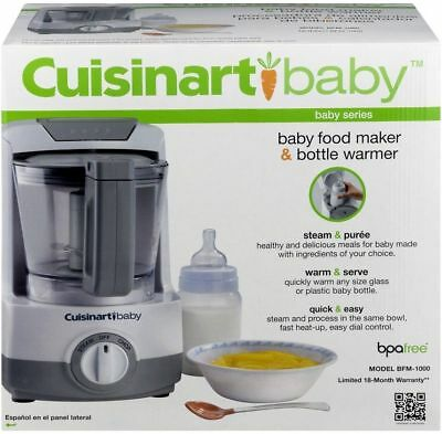 Cuisinart Baby Baby Food Maker and Bottle Warmer BFM-1000 New in box