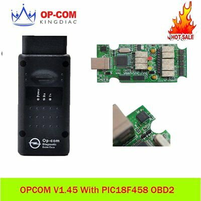 OP COM OPCOM V1.45 With PIC18F458 OBD2 Opel Scanner Diagnostic tool V5 VersionKV