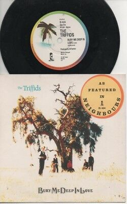 """THE TRIFFIDS   Rare 1987 UK Only 7"""" Mint OOP P/C Single """"Bury Me Deep In Love"""""""