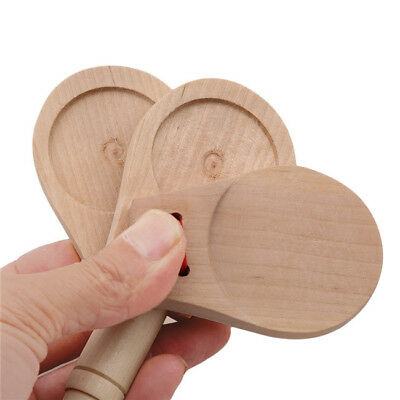 Wooden Boards Rhythm Stick Castanets Teach Aids Learning Tool Musical B