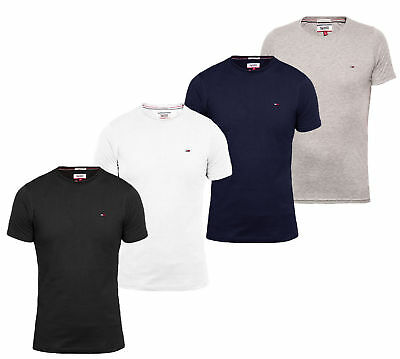 Tommy Hilfiger Denim Rundhals Basic T- Shirt Herren Slim Fit NEU