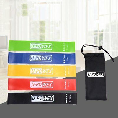 Set Of 5 Heavy Duty Resistance Band Loop Power GYM Fitness Exercise YOGA PH