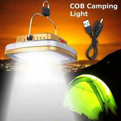 LED Solar Lantern USB Rechargeable Camping Tent Light Outdoor Fishing Lamp PH