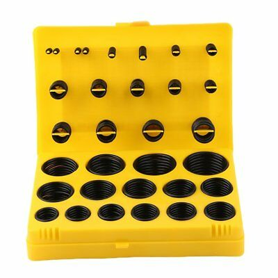 404Pcs Rubber Series O Ring Assortment Seal Plumbing Garage Kit With Case TOP