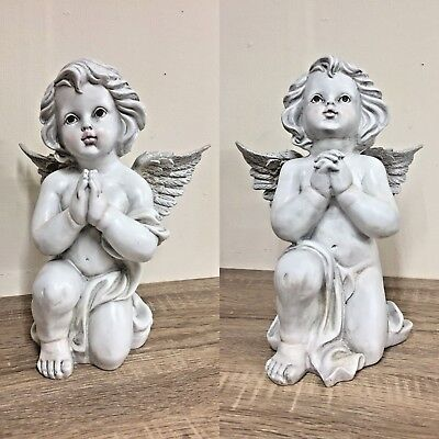 Praying Cherub with Wings Decorative Graveside Memorial Ornament - 2 Designs