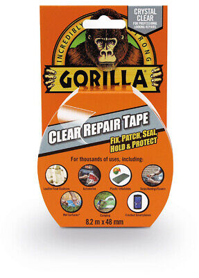Gorilla Tape Clear Repair Tape, Black, Camo, White