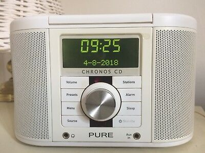 Pure Digital Chronos CD Series II  DAB  FM Radio CD Player USB weiss